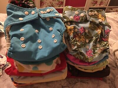 Large Used Cloth Nappy Bundle,in Good Pre Used Condition(see Pics)