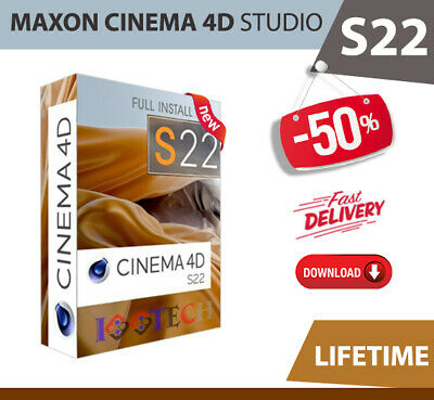Maxon Cinema 4D Studio S22✔️2020✔️Lifetime Licence Key✔Fast Delivery✔For Windows