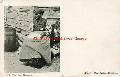 Black Americana, Selige No 245, The Ole Mammie, Woman Sitting by Cabin