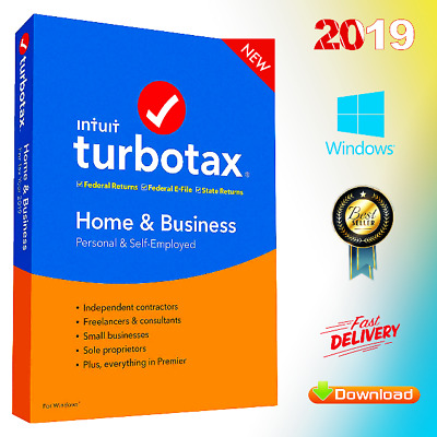 Intuit TurboTax Home & Business 2019 ✔️ Latest Version for Win ⚡️ Fast Delivery