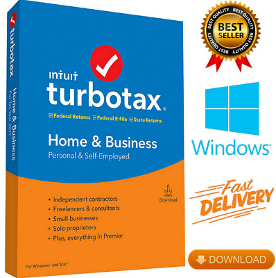Intuit TurboTax Home & Business 2019 Tax Preparation Software (LATEST VERSION)