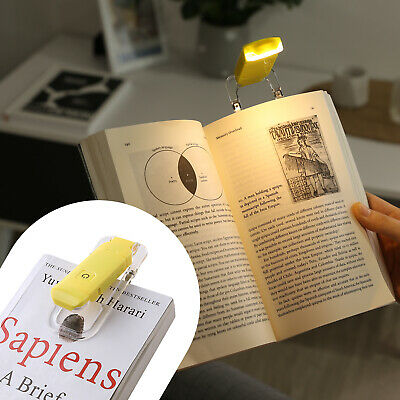 DEWENWILS LED Rechargeable USB Book Light Warm White for Reading in Bed HBRL01Y