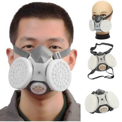 Silicone Double Filter Gas Mask Painting Spraying Facepiece Respirator