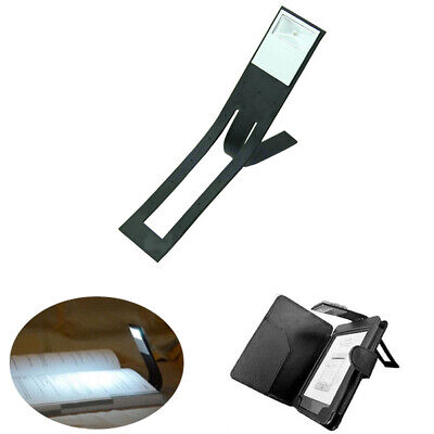 Portable Folding LED Clip Foldable Reading Light Flexible Plastic Bookmark Lamp