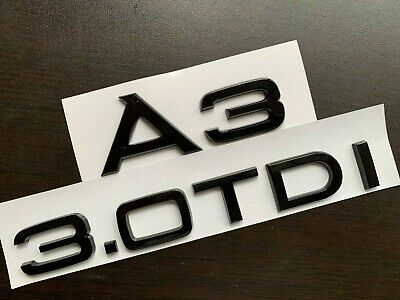 Gloss Black A5 TDI Rear Boot Badge Emblem Letters Numbers Compatible For A5 Models