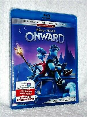 Onward (Blu-ray/DVD, 2020) NEW Tom Holland Chris Pratt Octavia Spencer DISNEY