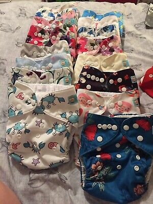 Large New And 2 Used Cloth Nappy Bundle,in Good Pre Used Condition(see Pics)