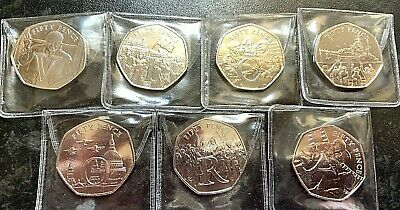 Isle of Man 2020 75th Anniversary of VE Day - VICTORY - 50p's All 7 available