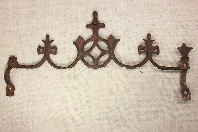 old Widow's Walk architectural finial fence top rusty iron gothic 13 3/4 vintage