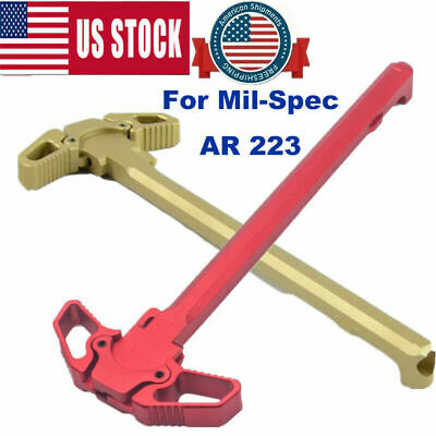 Charging Handle RED Metal Ambidextrous AMBI Handle Accessory for Mil-Spec³ A1R³