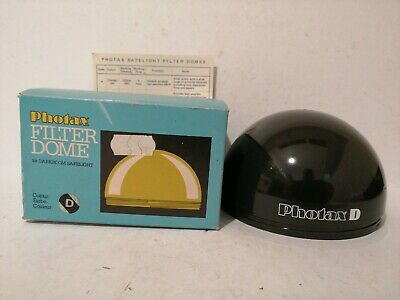 Photax Filter Dome Type D (Khaki) for Darkroom Safelight - Clean and Boxed