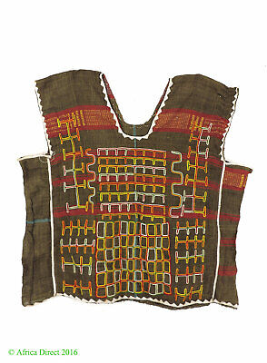 Wodaabe Bororo Tunic Handwoven Embroidery Niger Africa SALE WAS $350.00