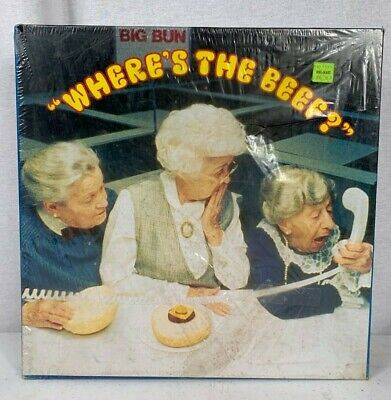"""Vintage Big Bun """"Where's The Beef"""" Puzzle Pre-Owned Still in Original Wrapper"""