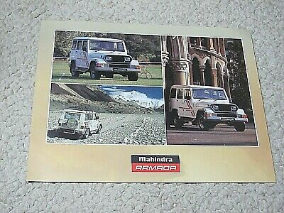 1995 Mahindra  Armada (India) Sales Brochure...