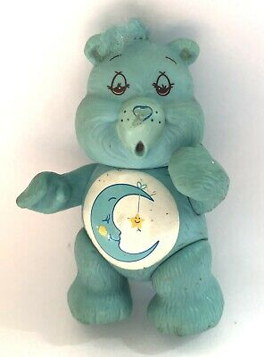 Vintage Care Bears 'Bedtime Bear' blue 1983 poseable figure 1980's retro toys