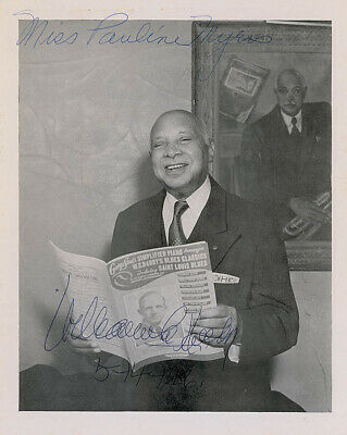 W.c. Handy - Autographed Inscribed Photograph 05/14/1956