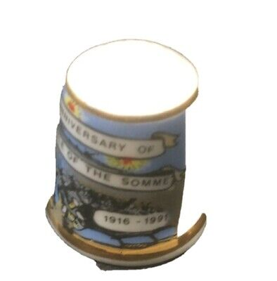 75 Ann Of The Battle Of The Somme Thimble 1916 To 1991