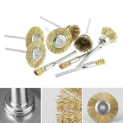 Brass Brush Wire Wheel Brushes Die Grinder Paint Rust Remover Rotary Power Tools