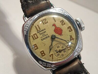 Vintage Advertising Wristwatch- Friedman Shelby All Leather Shoes/Red Goose Shoe