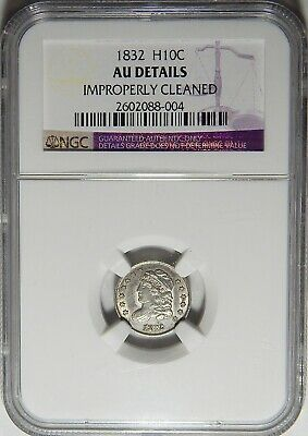 1832 Ngc Au Details, Improperly Cleaned Capped Bust Half Dime - Pg24