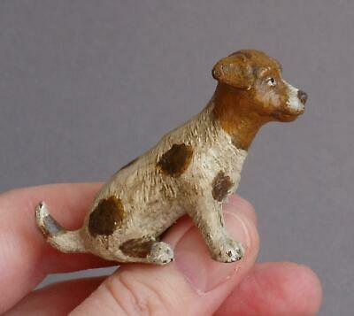 CUTE Vintage COLD PAINTED BRONZE Sitting JACK RUSSELL Terrier DOG Miniature