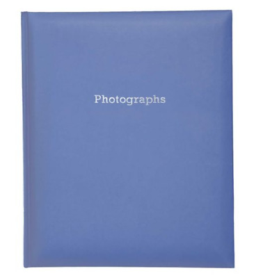 Deluxe Large BLUE Self Adhesive Photo Album Hold Various Sized Photos  50 Pages