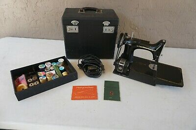 1949 Singer Featherweight Sewing Machine WORKS with Case Number AJ124809