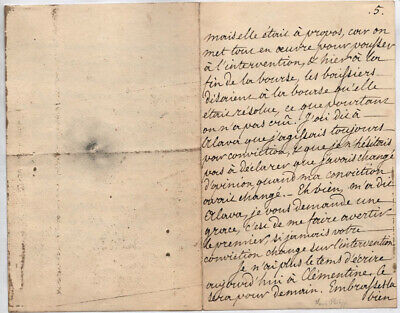 King Louis Philippe (France) - Autograph Letter Fragment Signed