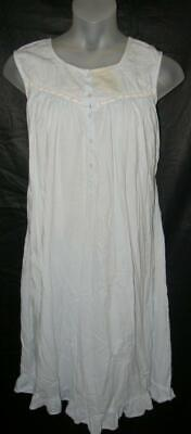CLEARANCE Light Blue Plus 3X 22 / 24 Sleeveless Cotton Lounge Night Gown