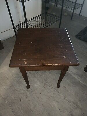 Period Queen Anne Tavern Side Table Pine 18th Century