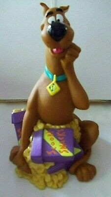 1998 Hanna Barbera Scooby Doo Large Bank, Scooby's Snacks, 9 Inches Tall, EC
