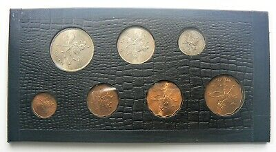1956-1963 North Africa Sudan 7 Coin Uncirculated set in Leatherette holder