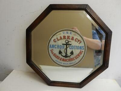 REALLY old MIRROR sign anchor cottons Paisley