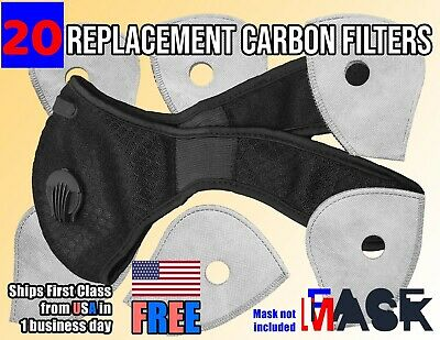 6 Pack Activated Carbon Replacement Filters for Dual Exhale Valve Face Masks