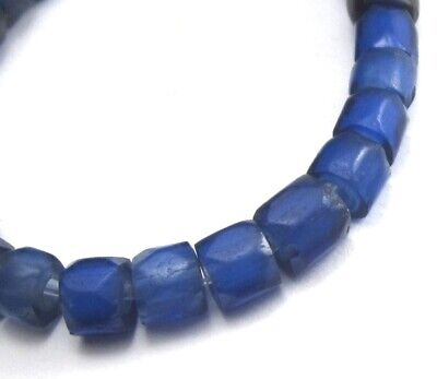 28 Rare Hand Faceted Small Amazing Old Mixed Russian Blue Antique Beads
