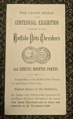 1877 Antique Pitts Agricultural Works Buffalo Ny Steam Engines-Threshers