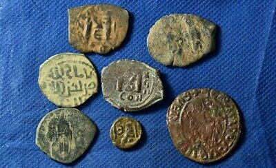 Lot of 7 Medieval / Byzantine Imperial Bronze coins.