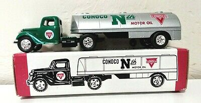 1937 Tractor Tanker Bank Conoco Nth Motor Oil Limited Edition Ertl 1991 Orig Mib