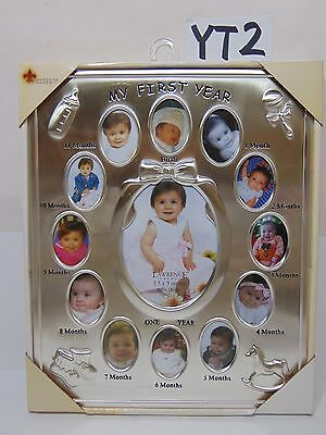 Lawrence Frames Silver Tone My First Year Picture Frame New Baby Picture 830080