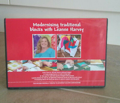 MODERNISING TRADITIONAL BLOCKS with LEANNE HARVEY DVD ~ NEW