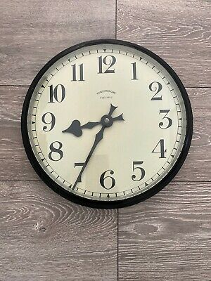 Vintage Synchronome Electric Brass Bevelled Glass Clock