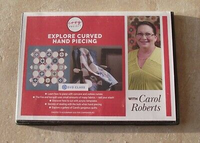 EXPLORE CURVED HAND PIECING with CAROL ROBERTS DVD ~ NEW