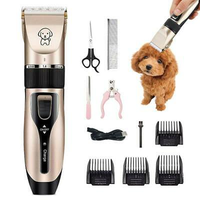 Electric Cordless Pet Hair Grooming Clipper Dog Cat Trimmer USB Shaver Kit Set