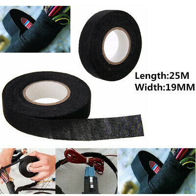 19mm*25m Tape Wiring Loom Harness Adhesive Cloth Fabric Automotive Car Cable UK