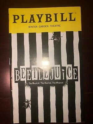 Beetlejuice Playbill OBC July 2019