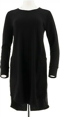 Cuddl Duds Comfortwear French Terry Long Sleeves Lounger Black L NEW A293084
