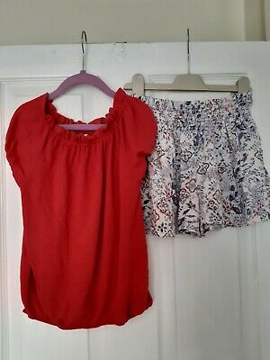 Next Girls Top And Short Set - Size 7 Years