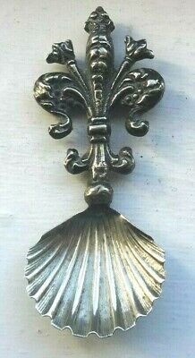 Here Is A Beautiful Antique Solid Silver Caddy Spoon - Made In Italy