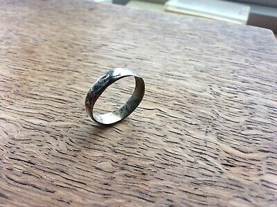 Detector Finds Late Medieval Silver Fede Clasped Hands Ring 1400 - 1500 Ad