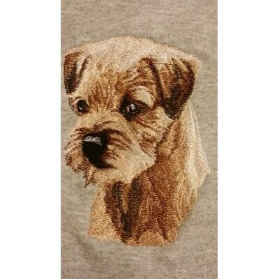 Embroidered Short-Sleeved T-shirt - Border Terrier BT3415 Sizes S - XXL